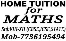 HOME TUITION FOR MATHS