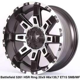 jual pelek offroad BATTLEFIELD HSR R20X9 H6X139,7 ET15 free ongkir
