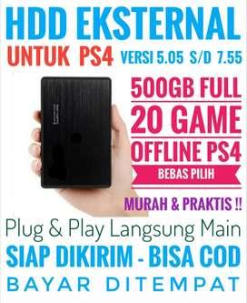 HDD 500GB Bonus 20 Game PS4 Murah Meriah Mantap Harganya Bebas Pilih