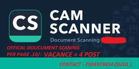MOBILE TO SCANNING DOUCUMENT