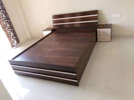 double bed with storage in factory price