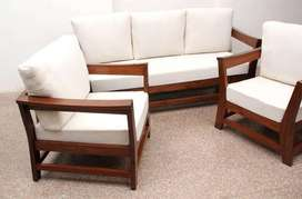 3+1+1 Seater Sofa Set with 4inch Cushions