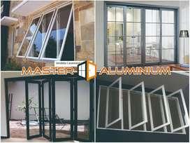Pintu Jendela Kusen Kaca Kasa Nyamuk Aluminium Geser Sliding Lipat Bud