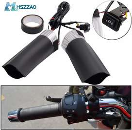 Heated handle bar grips for bikes