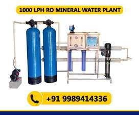 1000 LPH RO Mineral Water Plant (1 Year Warranty)