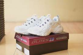 [SECOND] Skechers D'Lites 3.0 - Air Cooled Memory Foam White/Navy/Red