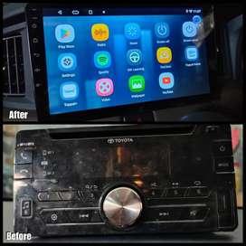 Before After- Toyota Calya Sebelum Sesudah Upgrade Headunit Android 9