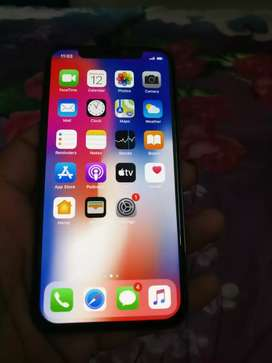IPhone x grey colour 64 GB charger box available