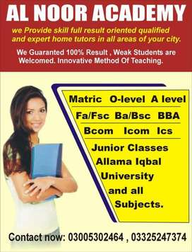 Online Tutors For All Subjects Of Arts / Science & Commerce