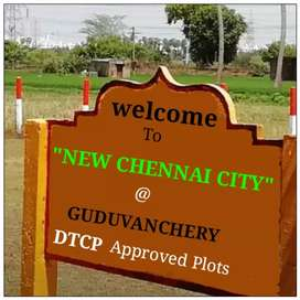 LOWEST PRICE DTCP APPROVED PLOTS NEAR GUDUVANCHERY
