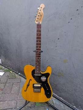 Gitar fender thinline natural glossy