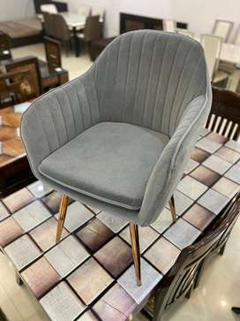Suede Chairs with Stainless Steel Legs!