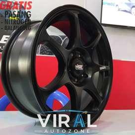 Velg Mobil Racing Ring 16 Lubang 4 Sangat Cocok Untuk Mobil Brio Yaris