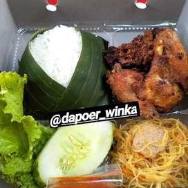 Aneka Nasi Boxs (Ayam Bakar Madu/kremes/pedes manis,dll)