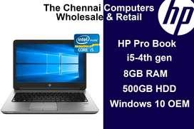 HP Probook Laptop i5-4th,8GB RAM,500Gb, Windows 10 Original @16999