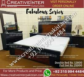 Double bed set excellentprice sofa dining table office chair cupboard