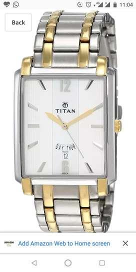 New Titan watch one year old model no.regalia