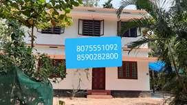 aluva muppathadam 2Bhk upstair house rent