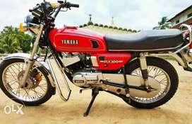 RX100, G1cylinder,  135carburetor, Disc brake, SD wheels, full ported