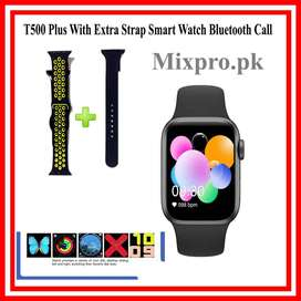 T500 Plus With Extra Strap Smart Watch Bluetooth Call