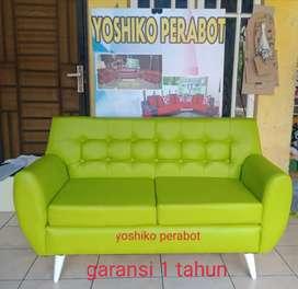Yoshiko perabot - sofa 2 person kazawa hijau