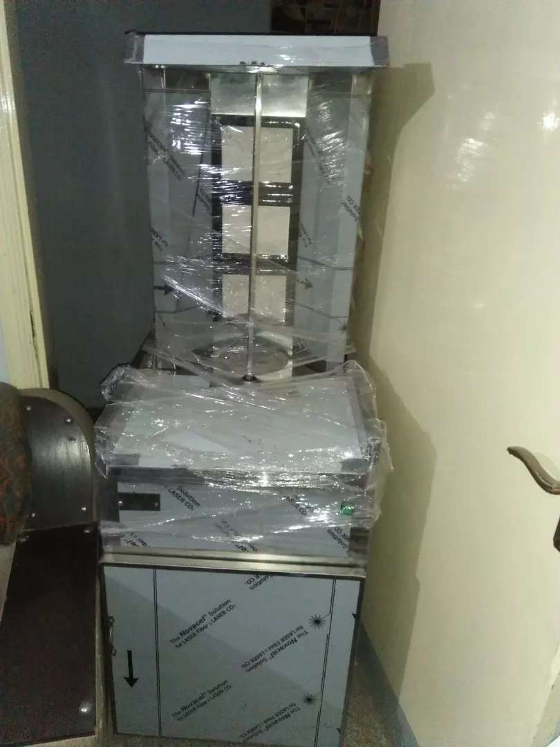Shawarma machine with trolly available for sale 0