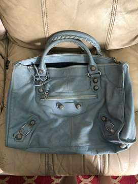 Balenciaga Work (44x30 cm)  2009 bleu acier gsh with mirror and db