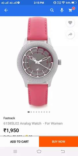 Fastrack woman supar watch lite pink colour