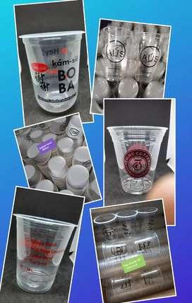 Grosir Gelas plastik Thai Tea|sablon gelas plastik|sablon papper cup