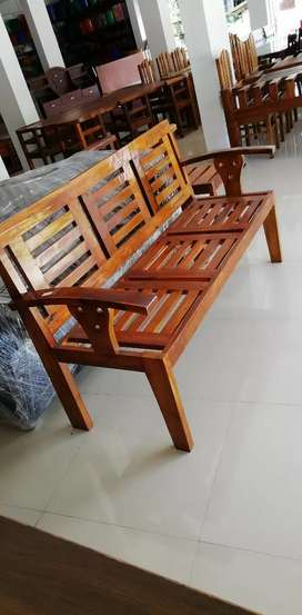 3seater, Diving table, chairs(Teak) wooden Furniture