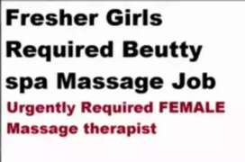 Girls required for spa massage job.  Frsehers only