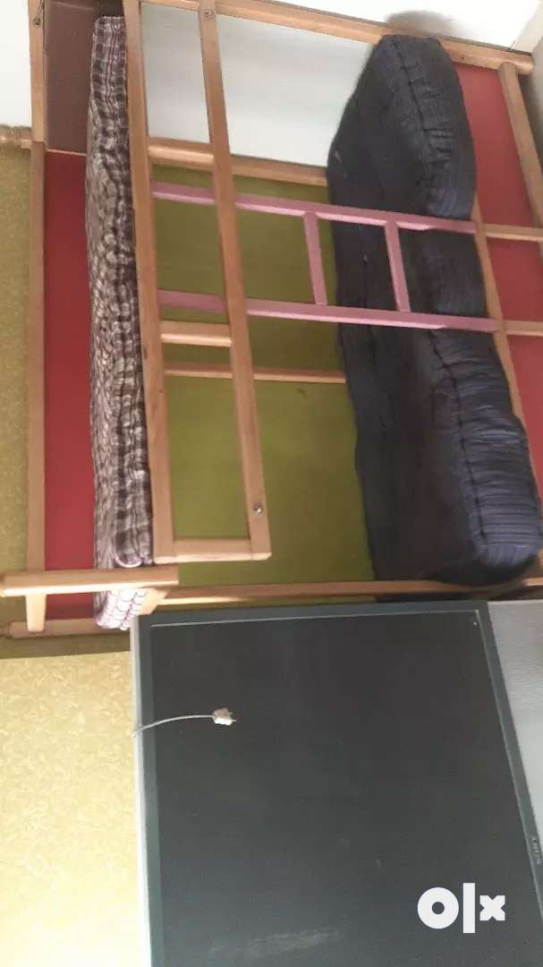 Bunk bed of teak wood . Colorfull and ruggedly designed 0