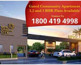 At Patancheru 1,2 and 3 BHK Gated Community Flats for Sale