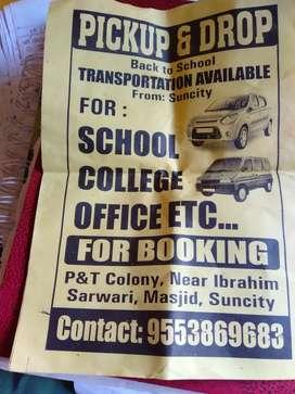Pick&drop for school college airport