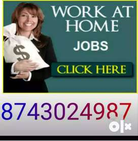 )Hiring For back office Executive Part Time Home Based Work