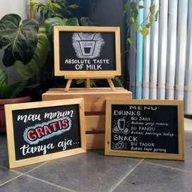 Papan tulis kapur blackboard chalkboard papan menu promo