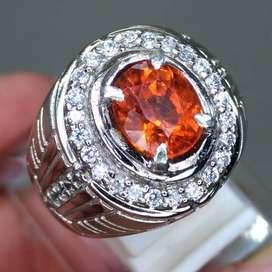 Natural Batu Orange Garnet Srilangka Asli