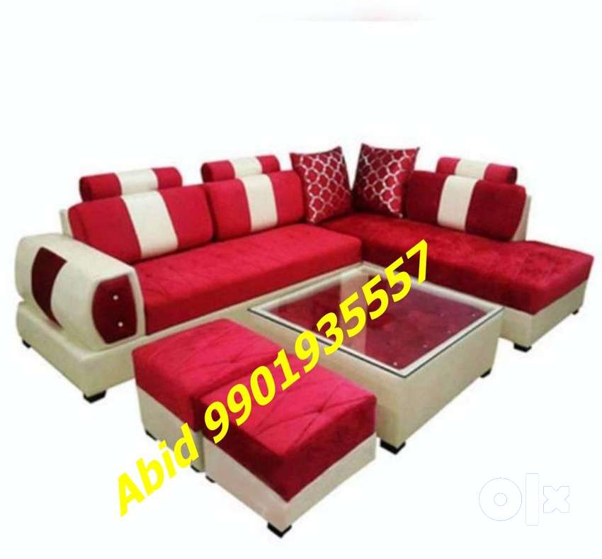 latest design l shape corner sofa set 3 year warranty mm 709