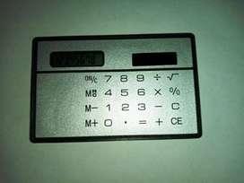 Termurah - Kalkulator Mini Ukuran Kartu Kredit tenaga surya