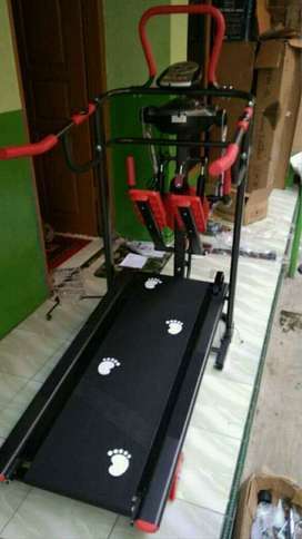 Treadmill+massager alat fitnes home