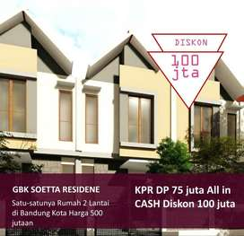 Rumah SHM Modern 2lt dkt Grand sharon METRO Margahayu Bonus Pagar