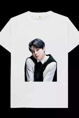 Kaos gambar park jimin black n white, 1 desain hanya untuk 1 pembeli