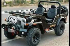 Modified black Willy jeep