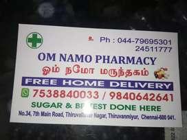 Medical shop sales man