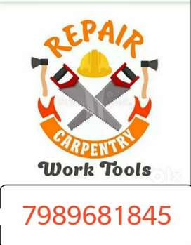 Sft for 150 any small carpenter repairing Warks any time call