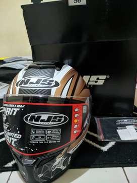 Helm NJS ZX-1 RUSH BLACK DOFF GOLD SIZE L