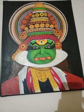 Kadhakali. Mural handmade original paintings