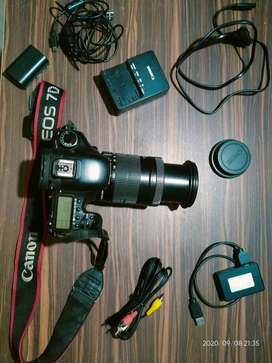 canon 7D with 18-135mm USM lense