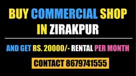 Buy Shop In Zirakpur Get Rental Income