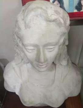 White cemented statue